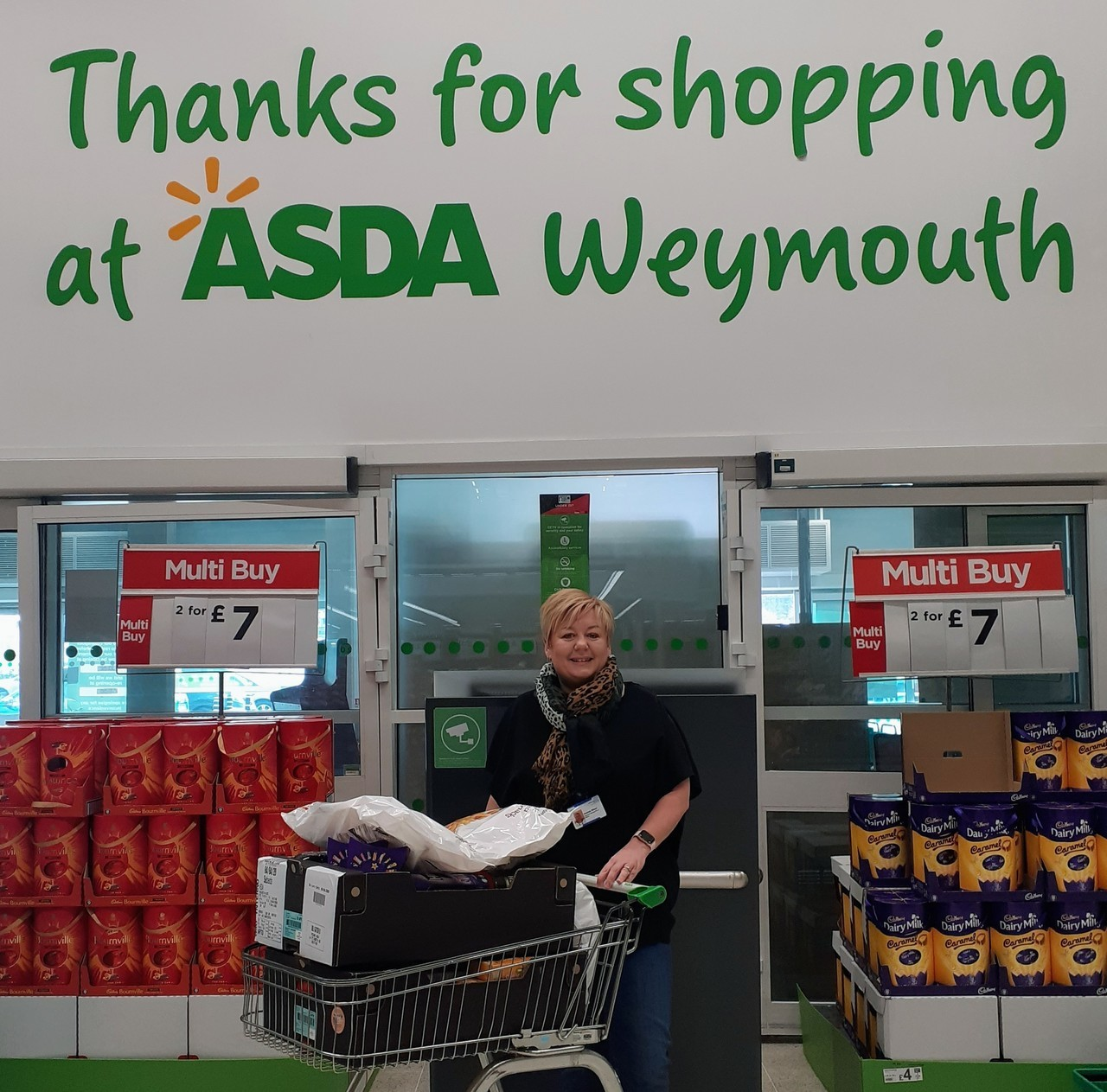 Donation from Asda Weymouth for NHS staff at Westhaven Hospital | Asda Weymouth