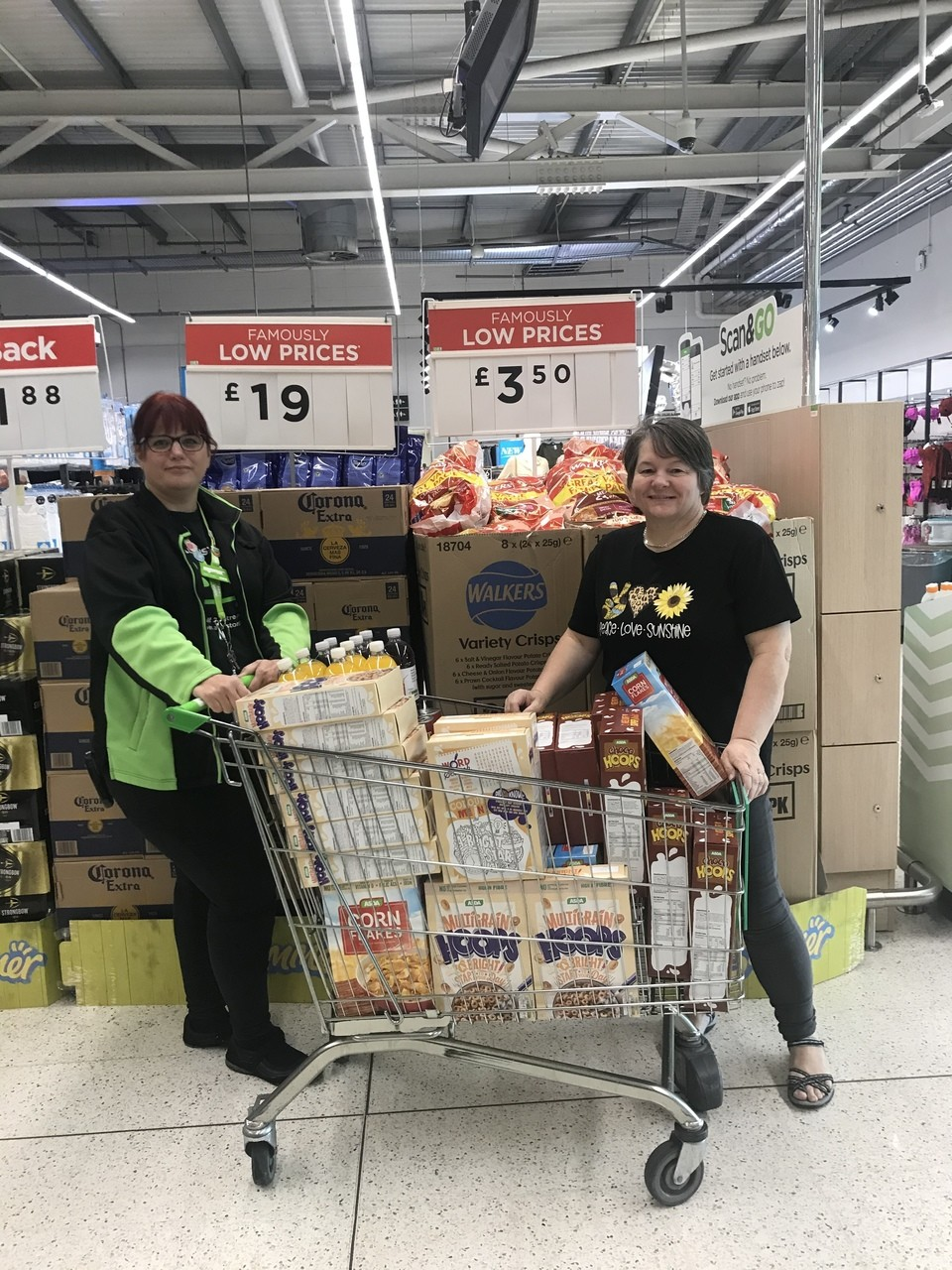 Donation to Pantside Community Food Bank | Asda Blackwood