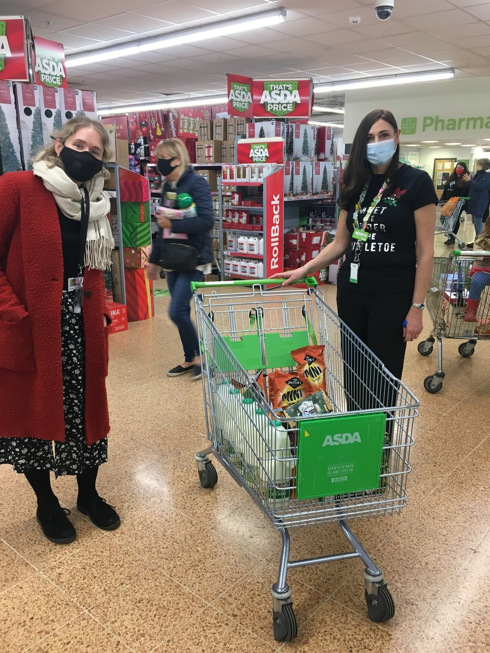 Donations of Christmas food and treats for Headway Brain injury Centre | Asda Longwell Green