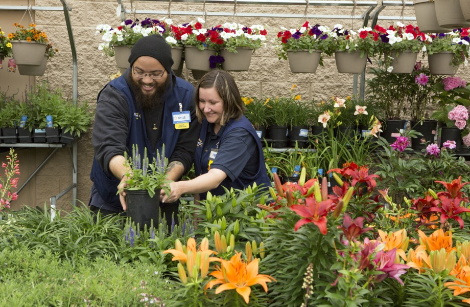 Associates working in Garden Center