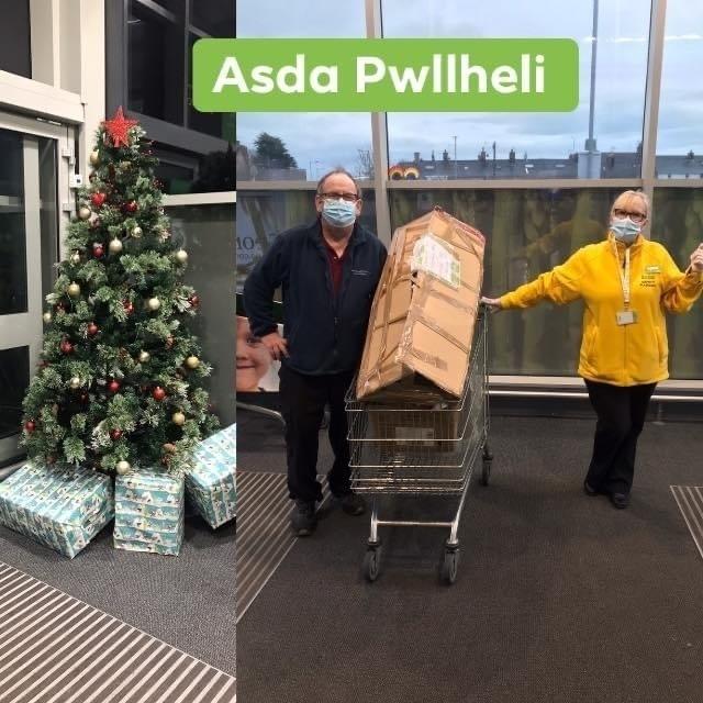 Christmas tree donation | Asda Pwllheli