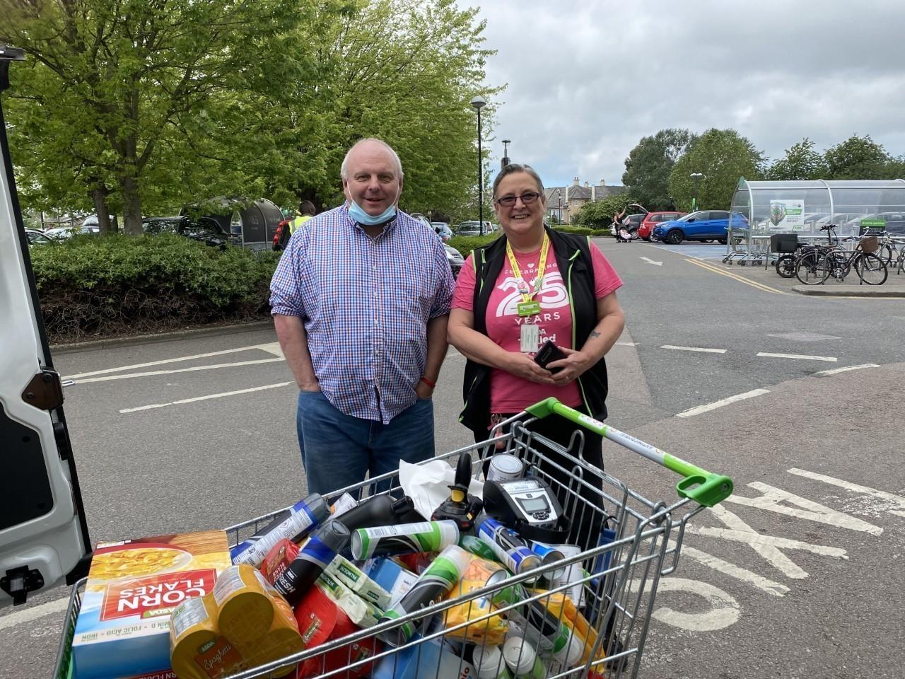 Jimmy's Night Shelter donation | Asda Cambridge