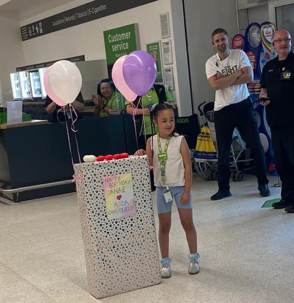 Birthday surprise from Asda Chadderton for Janae Nolan
