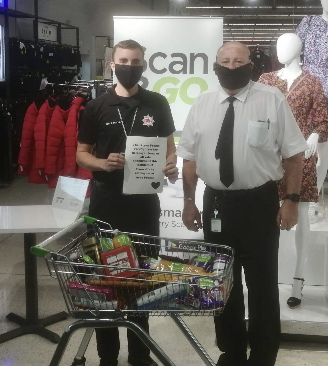 Thank you Frome Firefighters   Asda Frome