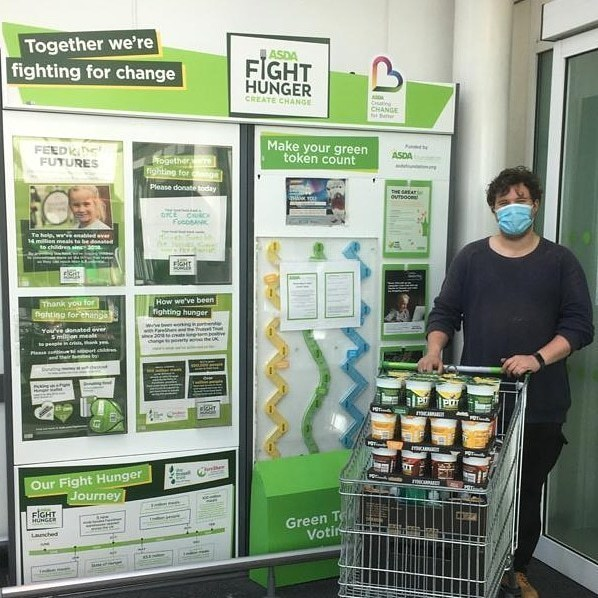 C-Fine sent Robin to collect our donation of food and toiletries this morning. | Asda Dyce