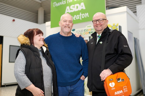 Emotional reunion for shopper Mark as he meets Asda security colleague who saved his life