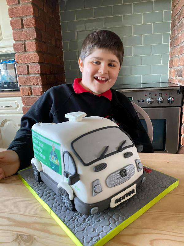 Dexter McDonald loves the friendly delivery drivers from Asda Wrexham