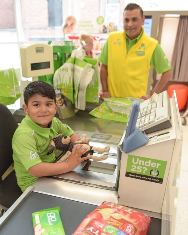 Huzaifah Ahmed 'helping out' at Asda St Matthews