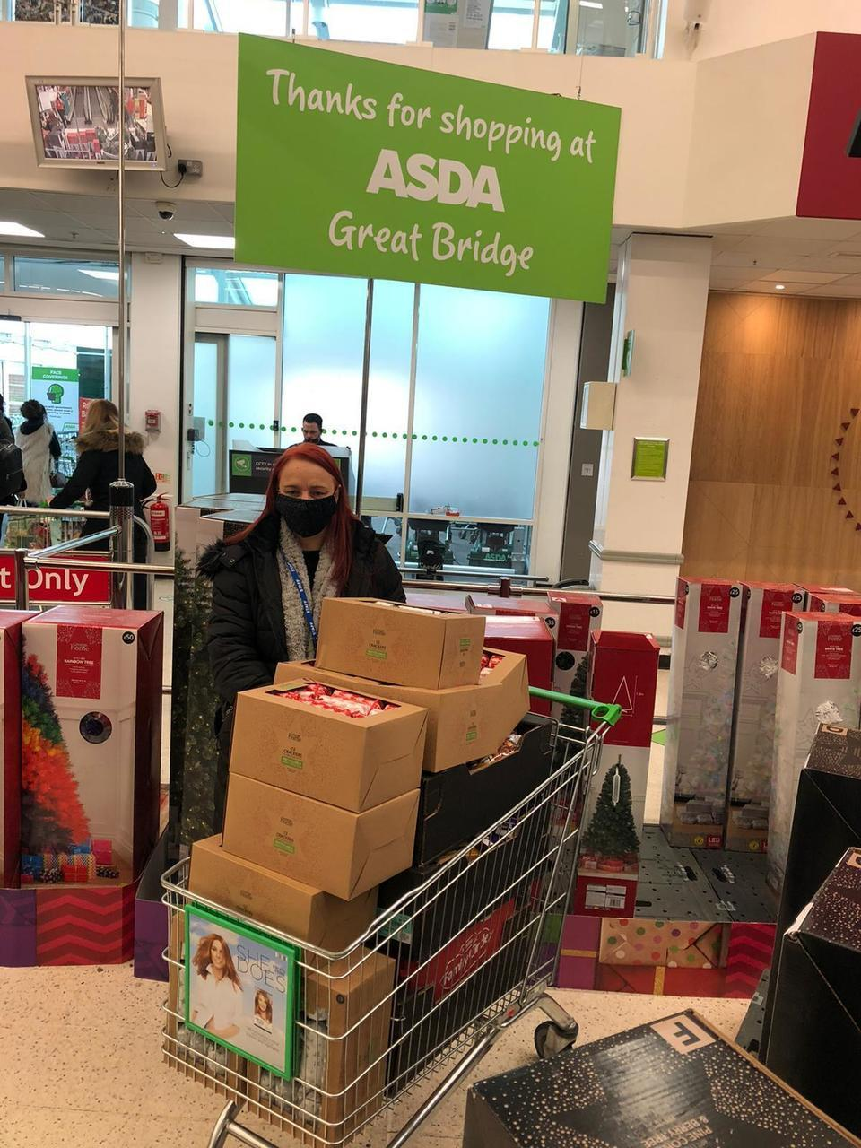 A kind donation to black country womens aid | Asda Great Bridge