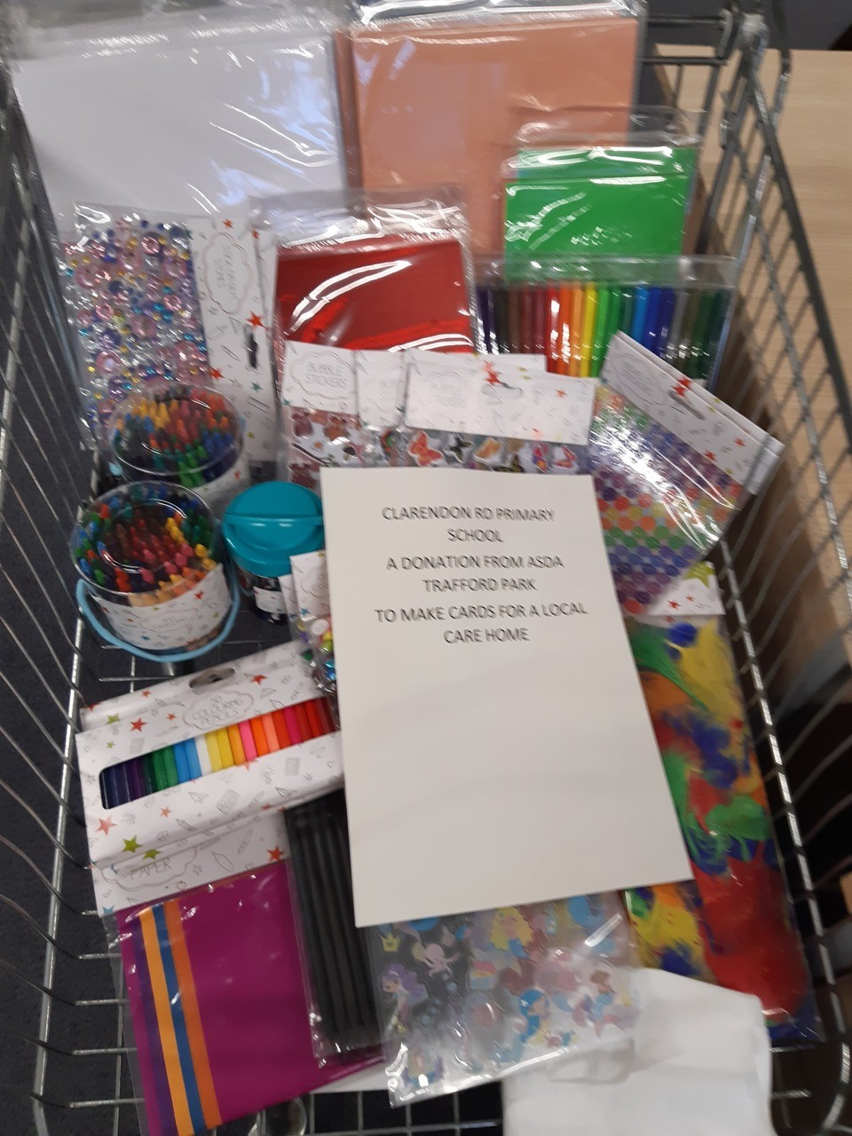 Donation for Clarendon Rd Primary school | Asda Trafford Park