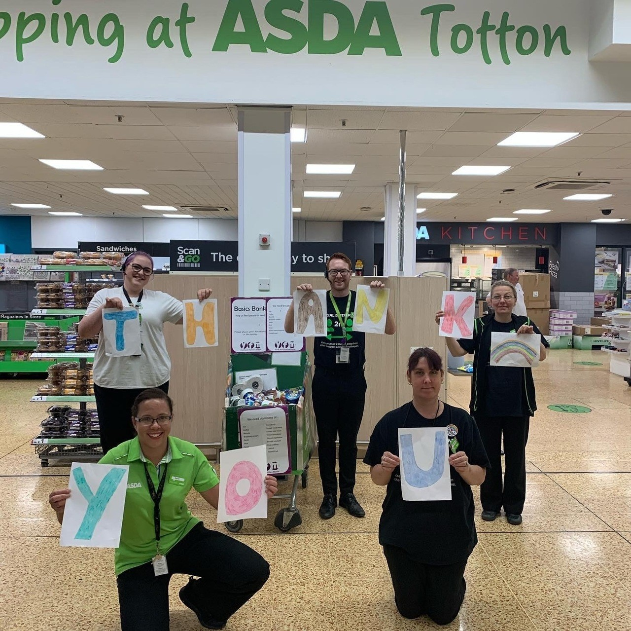 Generous customers support food bank | Asda Totton