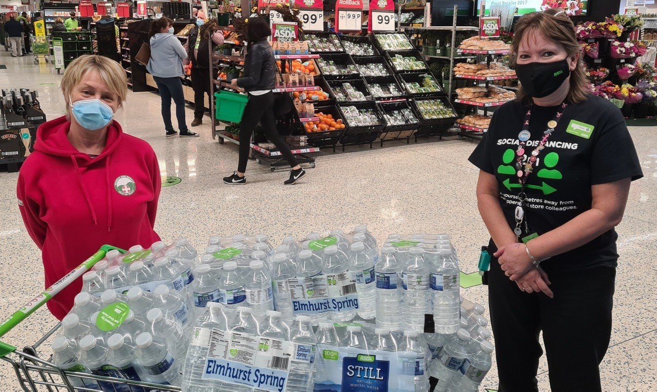 Helping hydrate search and rescue team | Asda Newport Isle of Wight