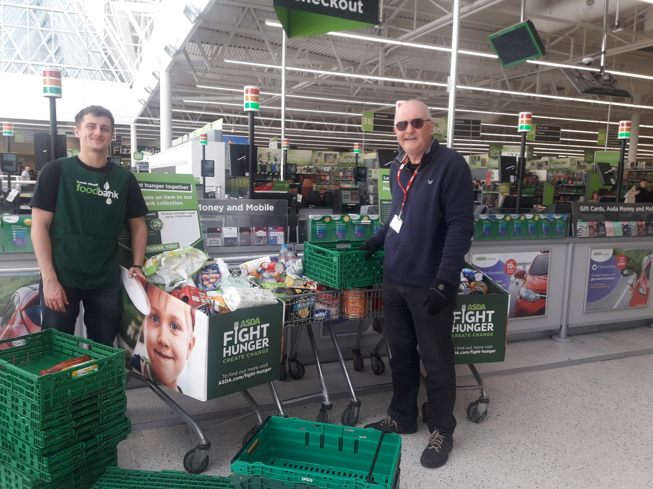 Generous Asda Pudsey customers support Leeds North &West Foodbank | Asda Pudsey