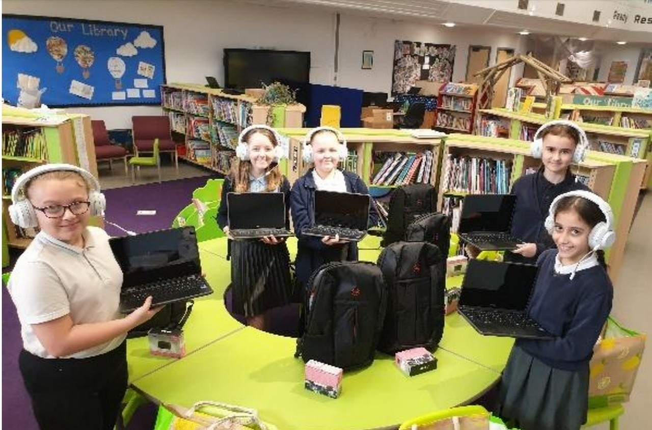 Lakenham Primary School thrilled with laptop donation | Asda Norwich Hall Road