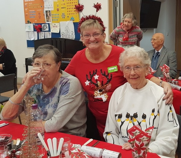 Asda Harrogate community champion Angela at a Christmas party