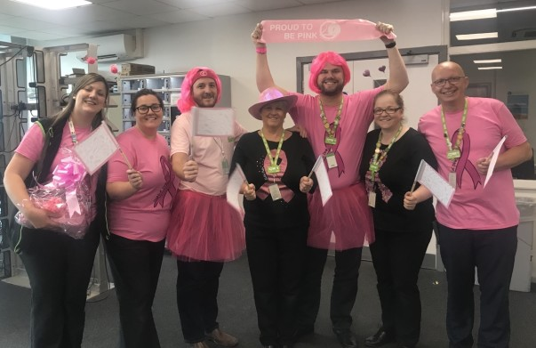 Asda Wigan colleagues Tickled Pink