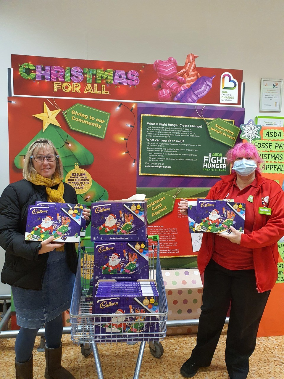 Chocolates for Littlethorpe's Santa's Run | Asda Leicester