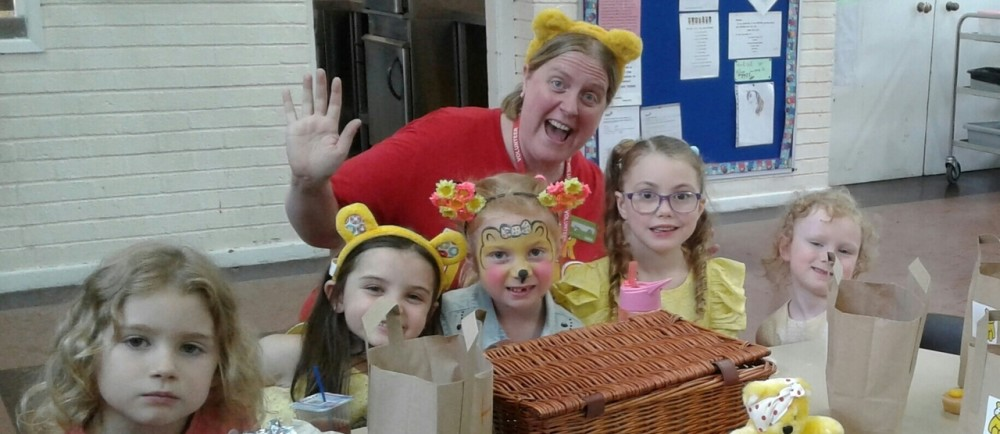 Asda Birchwood community champion Beky Wakefield at the BBC Children in Need Pudsey party