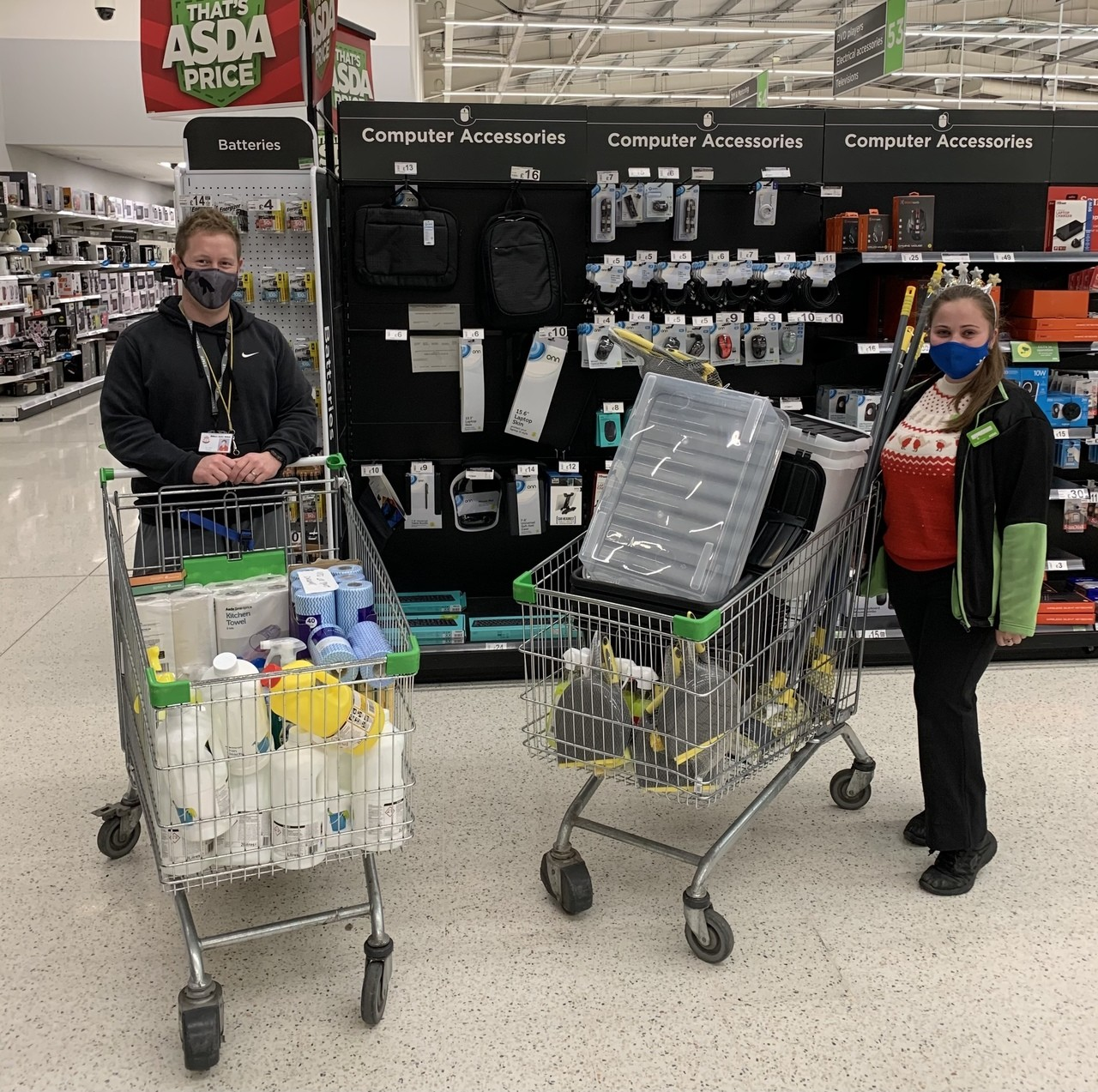 Emergency grant to fire-hit families | Asda Havant
