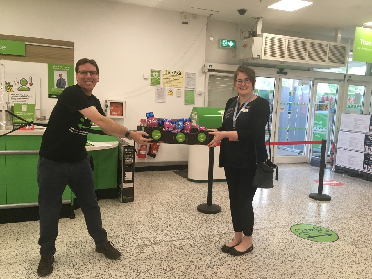 Donation for midwives | Asda St Austell