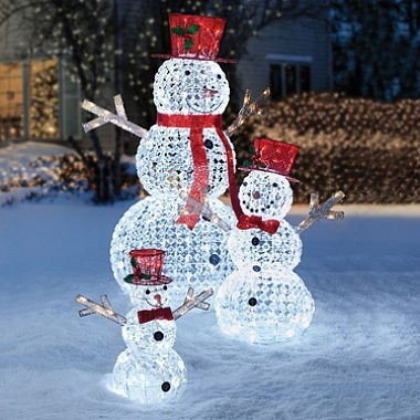 Member's Mark Crystal Beaded Twinkling Snowman Family