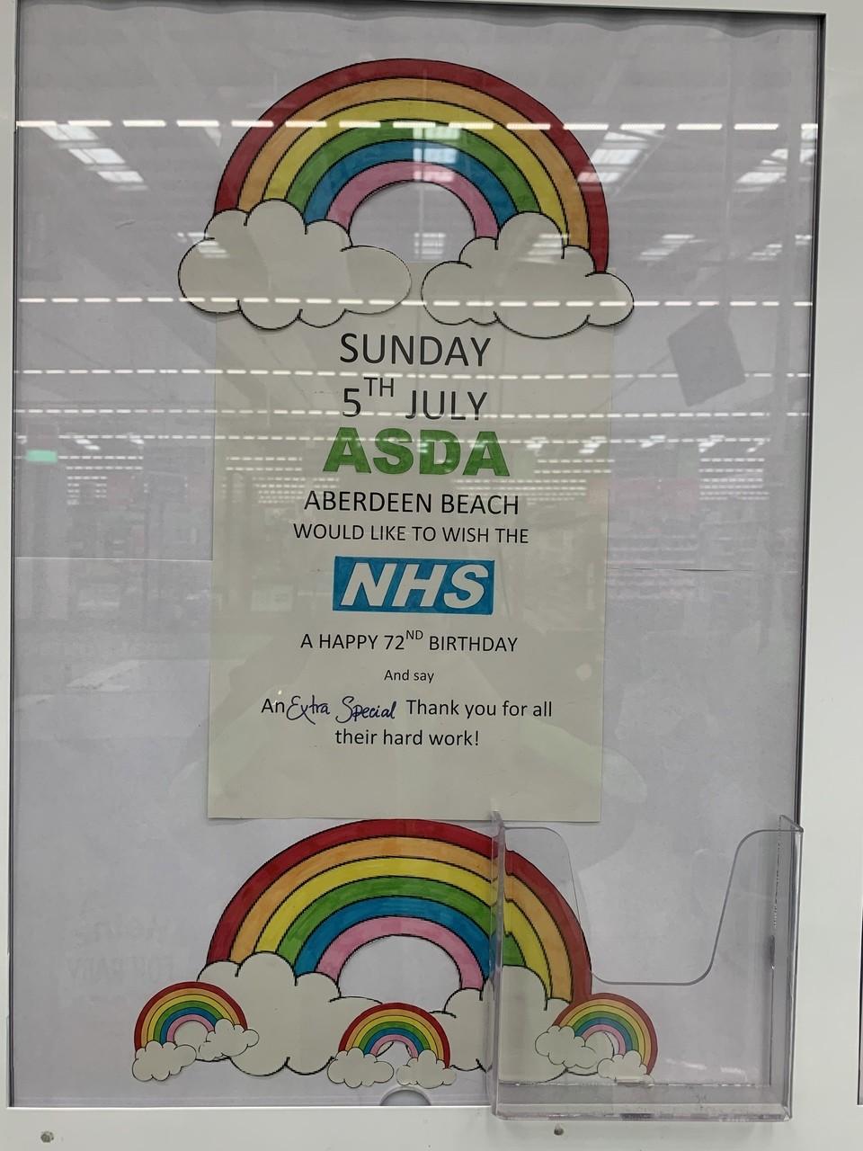 Happy birthday NHS | Asda Aberdeen Beach