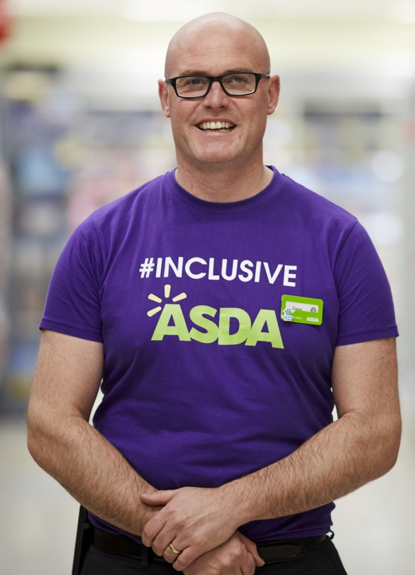 Asda Marple store manager Simon Lea