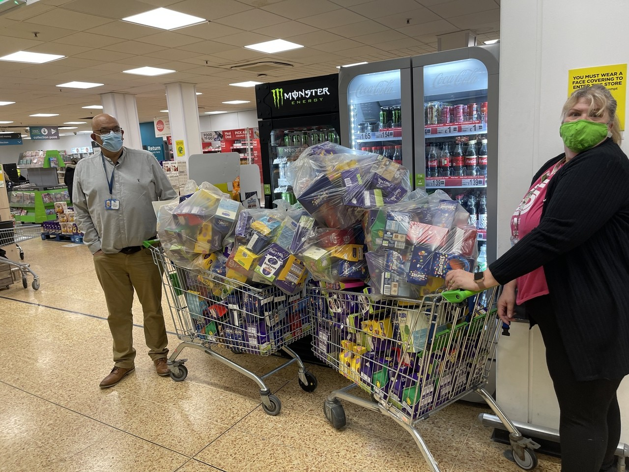 Massive Thank You to everyone who has donated an Egg for the Social Service Easter Egg appeal.  Colin came in to collect the donations today and was overwhelmed with all your generosity.   | Asda Totton