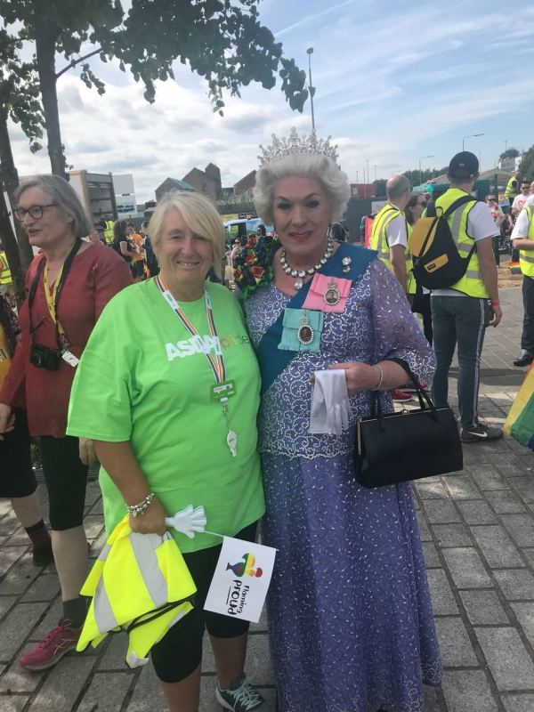 Karen Fulton from Asda Aye at Glasgow Pride
