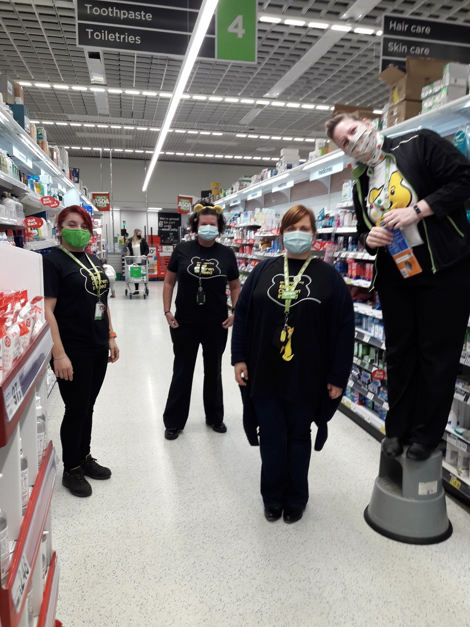 Having fun supporting Children in Need in the Peterborough store | Asda Peterborough