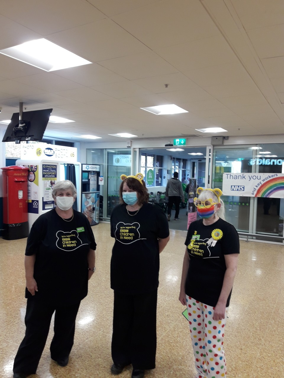 Colleagues dress up for Children in Need   Asda Taunton