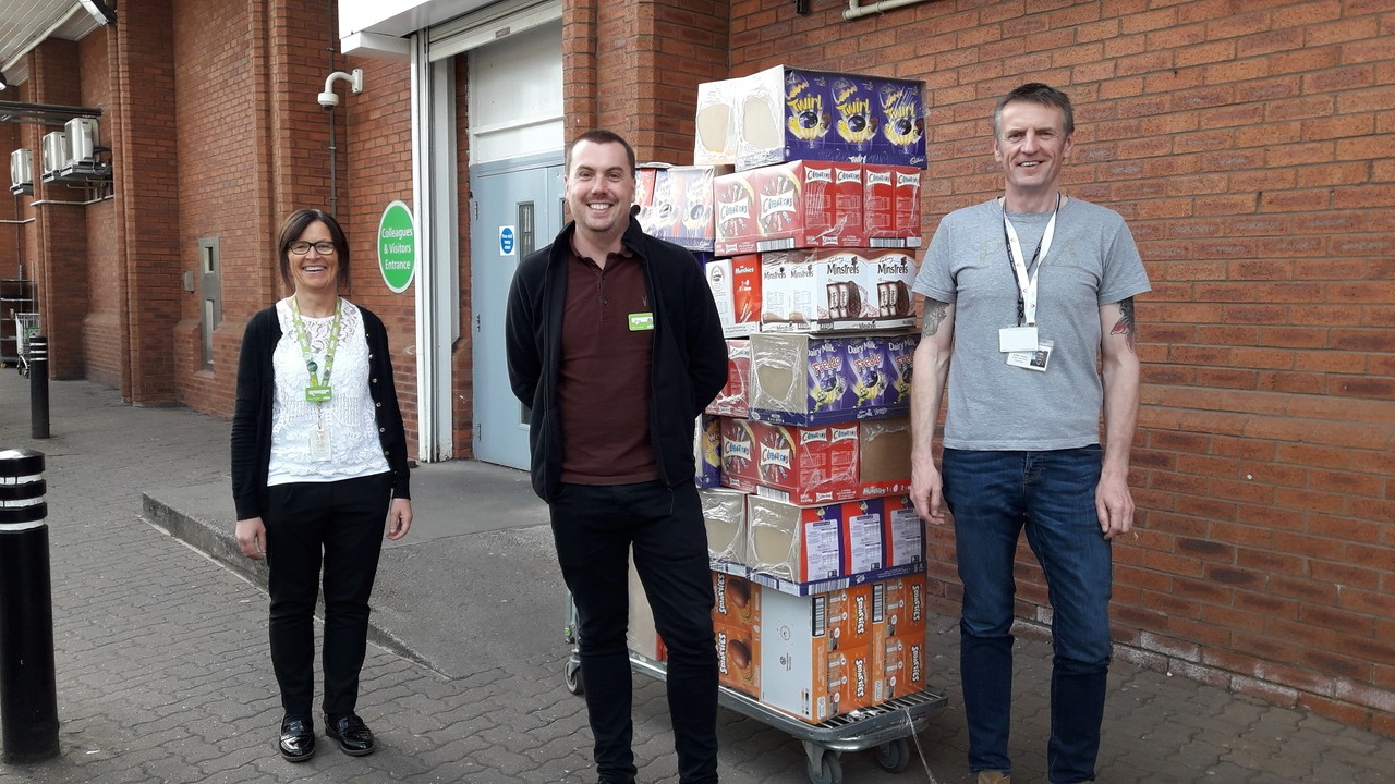 Easter egg donation to elderly and vulnerable | Asda Benton