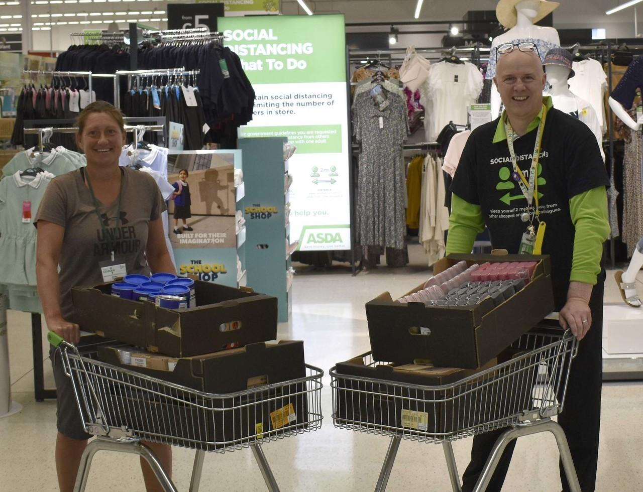Northern Devon Foodbank donation | Asda Bideford