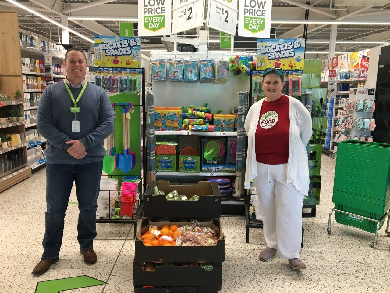 Food Cycle donation | Asda Clacton-on-Sea