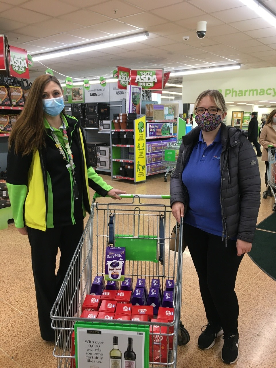 Easter egg donations forCare futures disability centre | Asda Longwell Green