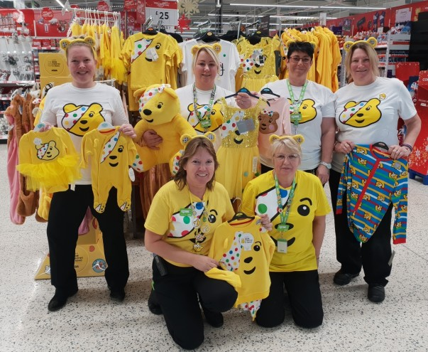 Asda Newport colleagues supporting BBC Children in Need