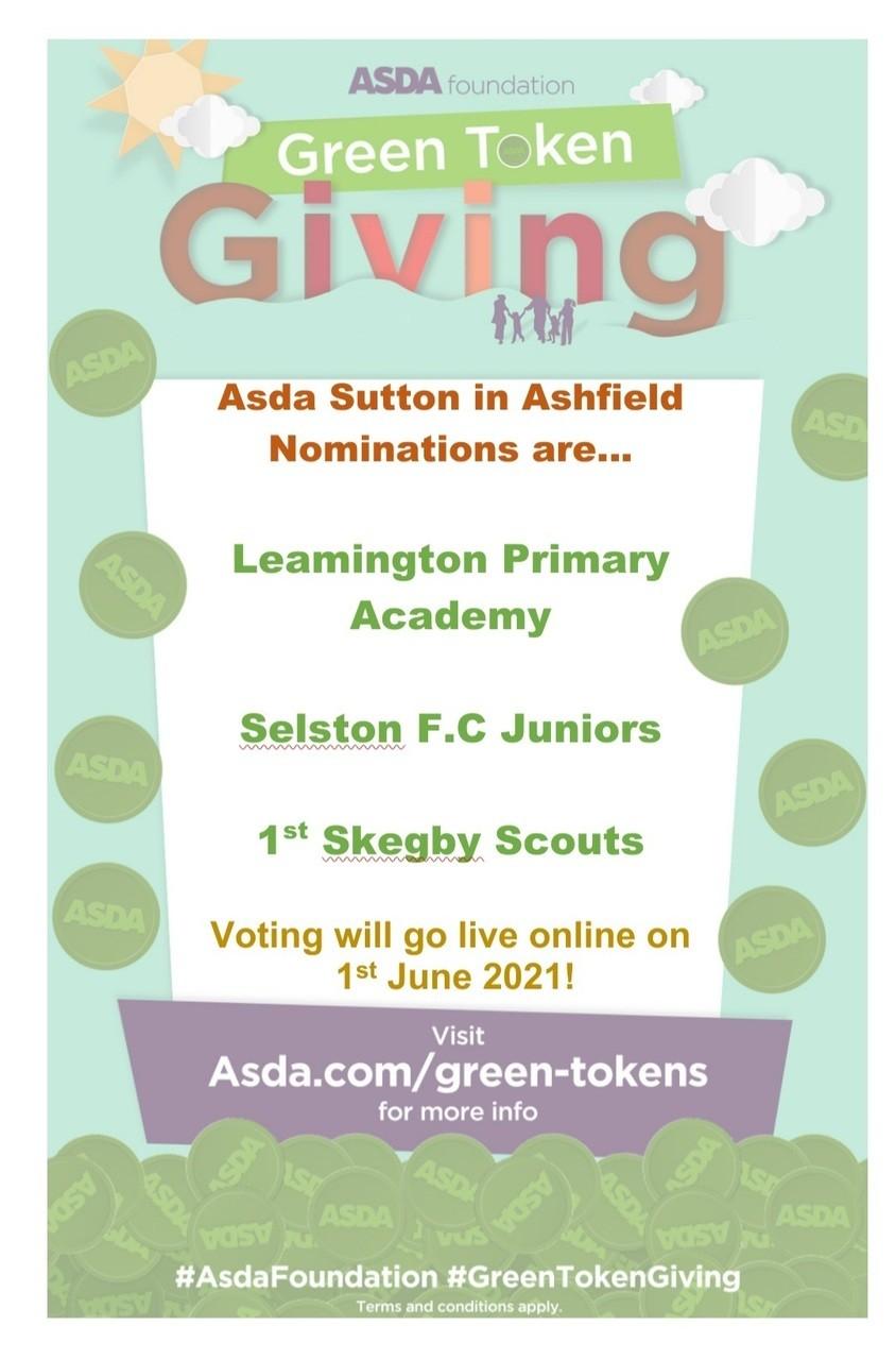 Green tokens go live | Asda Sutton in Ashfield