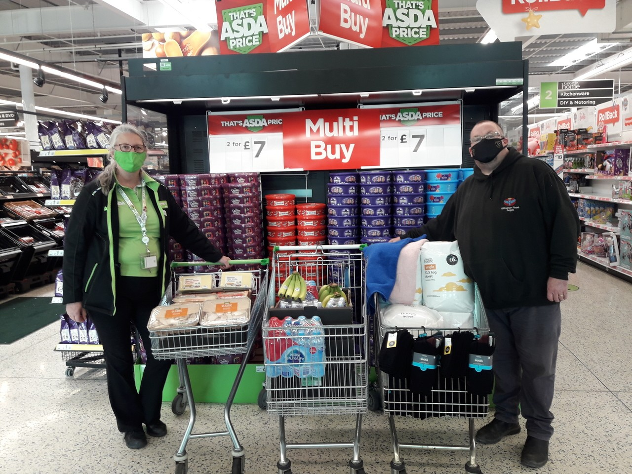 Donation to Street Angels | Asda Gillingham Pier
