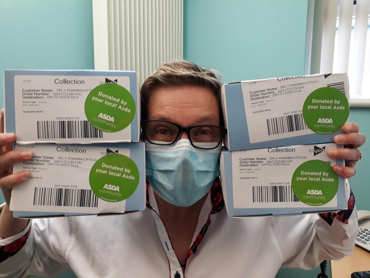 Donation of Face Masks | Asda Dyce