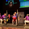 Walmart associate Liz Hubert competes at the Special Olympics