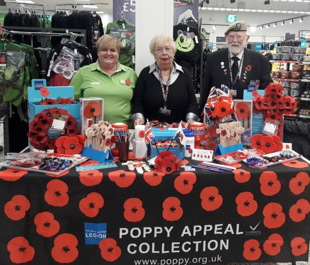 Royal British Legion collectors have been selling poppies at Asda Gosforth for past 10 years