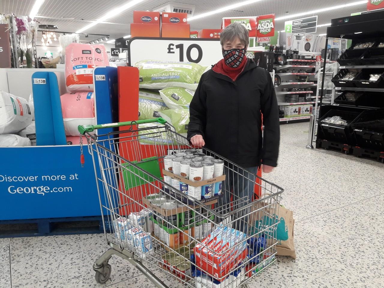 Donation to food bank | Asda Newport