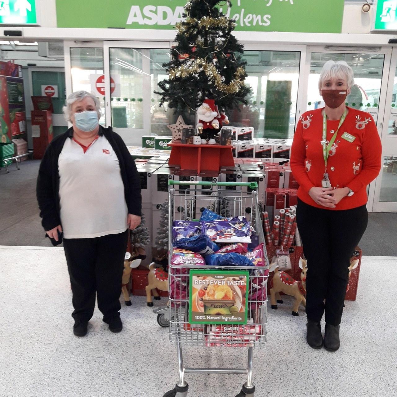 Salvation Army donation. | Asda St Helens