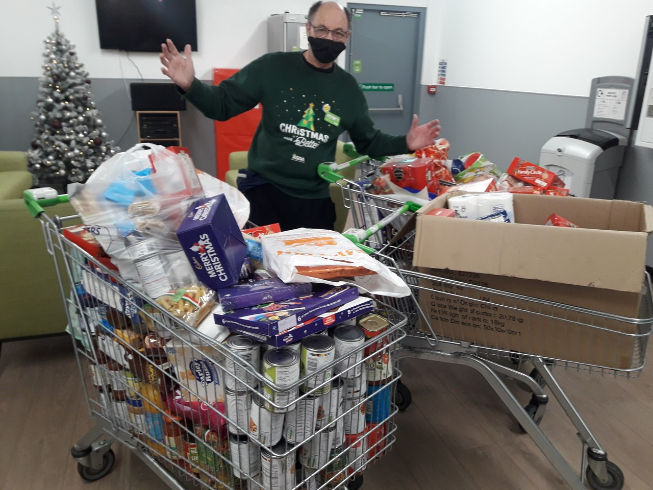 Secret Santa Foodbank donation from Next. | Asda Barnstaple