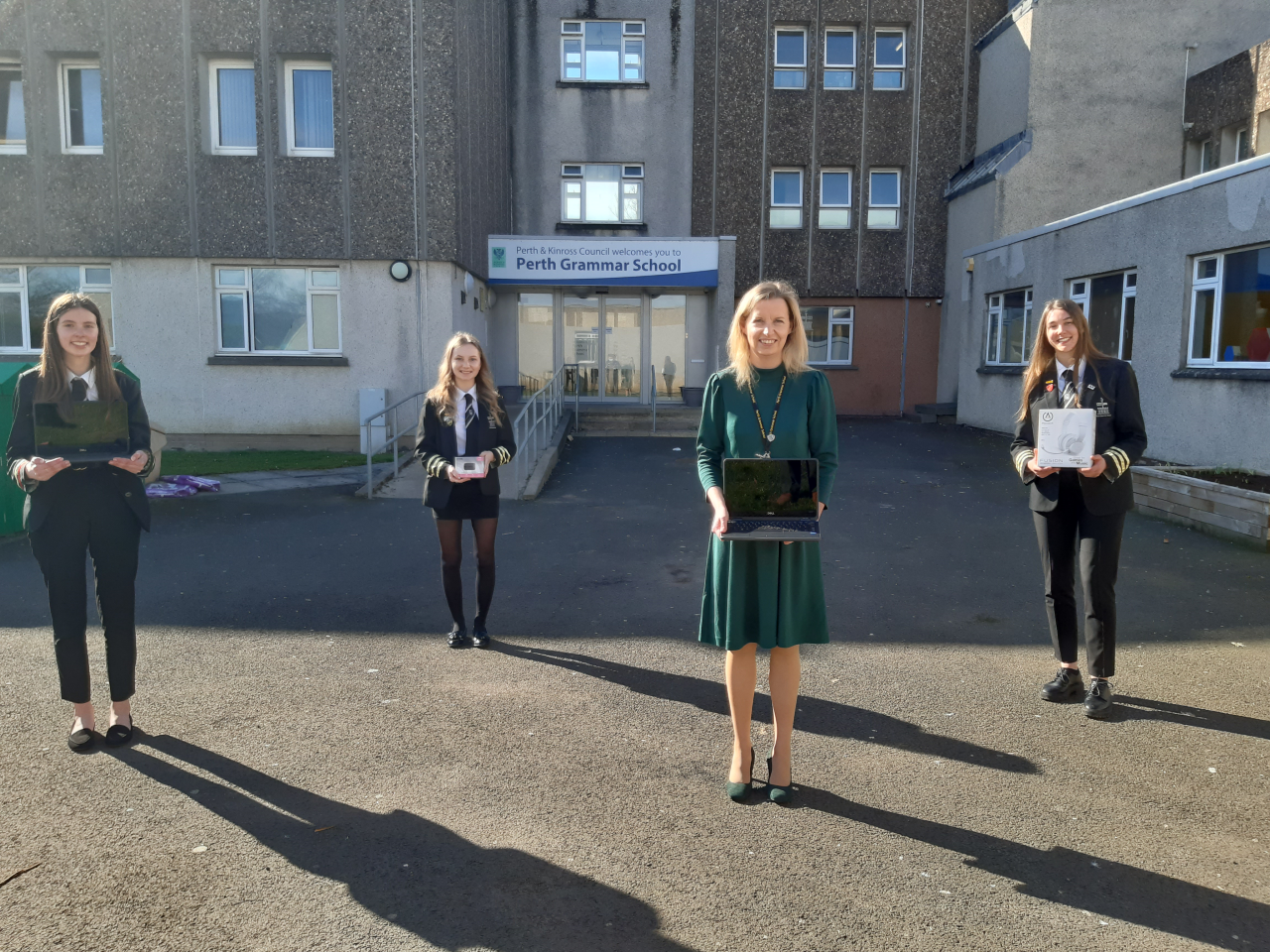 Perth Grammar School pupils delighted with the Asda laptop bundles | Asda Perth