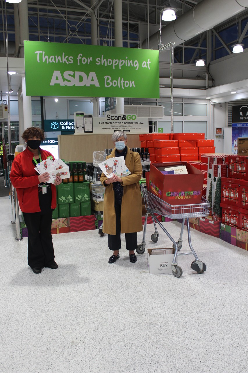 Sharples Primary school create Christmas cards for Southlands residential home. | Asda Bolton