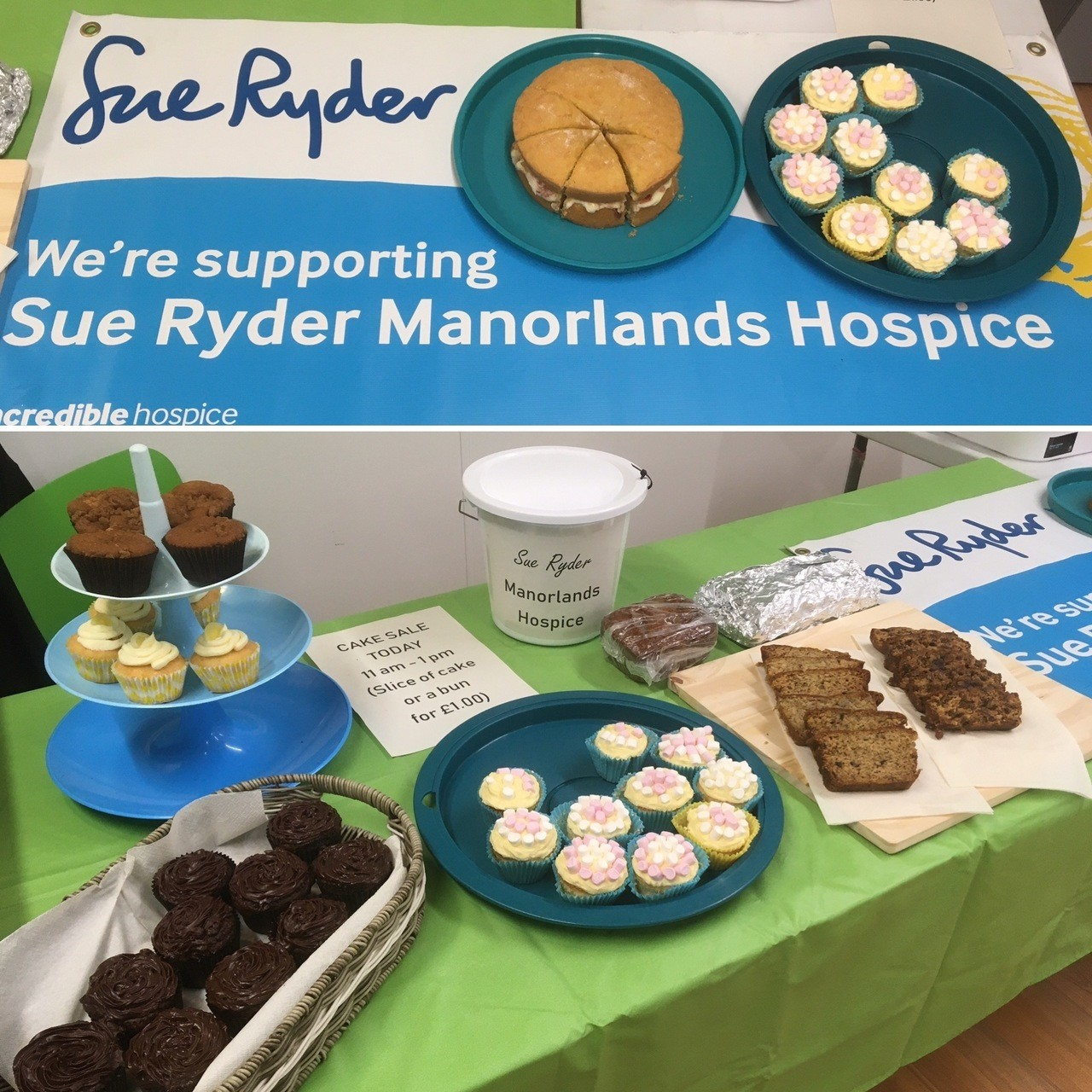 Asda Keighley had a cake sale in our colleague canteen for our local Manorlands Hospice - we raised just under £50 🧁 🍰  | Asda Keighley