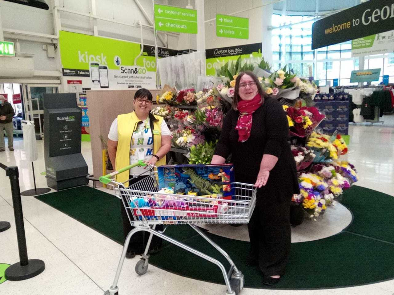 Toy donation to Malvern Special Families | Asda Worcester