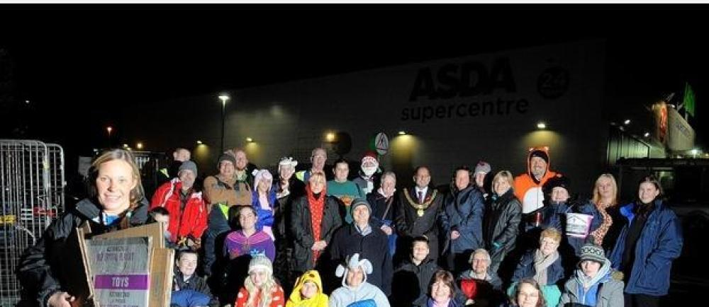 Asda Derby sleepout