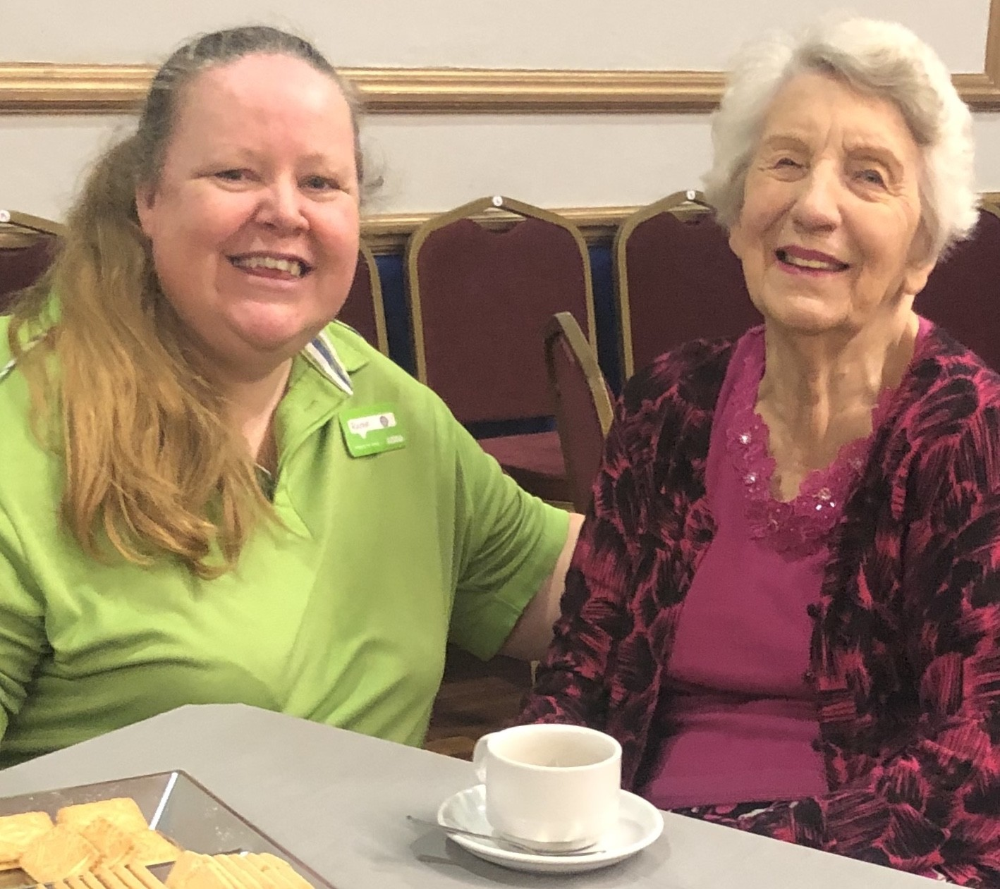 Asda Gosport community champion Rachel at the afternoon tea dance